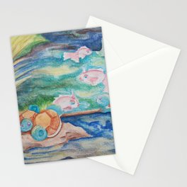 Pond With Squirtle And Goldeen Stationery Cards