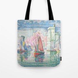 The Port Of La Rochelle, Paul Signac, 1921 Tote Bag