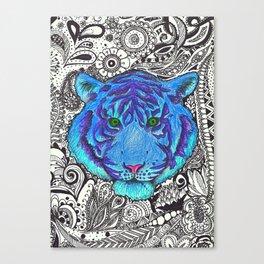 Zetangle tiger Canvas Print