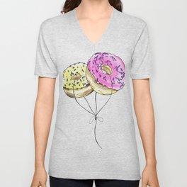 Doughnut Balloons Unisex V-Neck