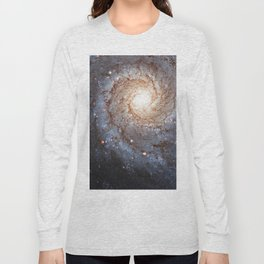 Messier 74,  NGC 628 Spiral galaxy in the constellation Pisces Long Sleeve T-shirt