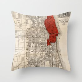 Great Chicago Fire Throw Pillow