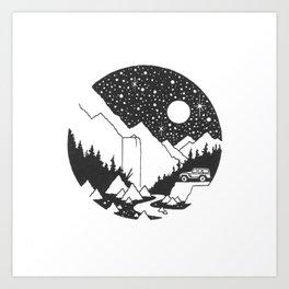 Cosmic Cruiser Art Print