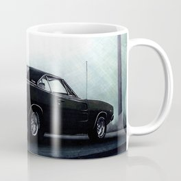CLASSIC MUSCLE CAR DODGE CHARGER IN BLACK DURING FOG Coffee Mug