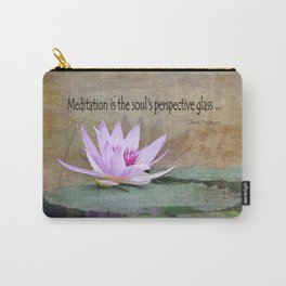 Water Lotus Meditation Carry-All Pouch