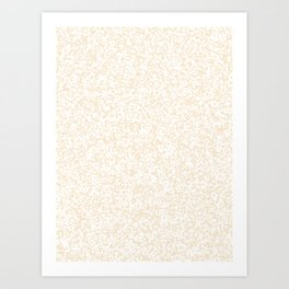 Tiny Spots - White and Champagne Orange Art Print