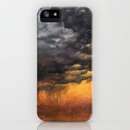 Watercolor Sky No 6 - dramatic storm clouds iPhone Case