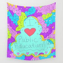 I Love Public Education Wall Tapestry