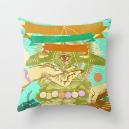 ESOTERIC WINGS Throw Pillow