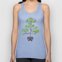 Bonsai Tree – Green Leaves Unisex Tank Top