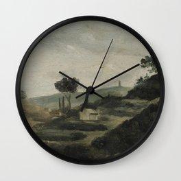 Paul Cezanne - La Tour de Cesar Wall Clock