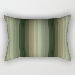 Green Stripes Rectangular Pillow