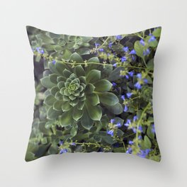 Succulent Smitten Throw Pillow