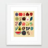spice Framed Art Prints featuring Fruit and Spice Rack by Picomodi