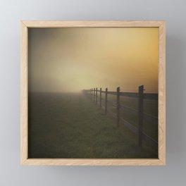 Misty Sunrise on the Farm Framed Mini Art Print