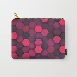 Purple Shade Hexagon Geometric Patterns Carry-All Pouch