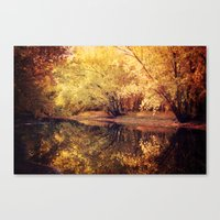 wisconsin Canvas Prints featuring Wisconsin River by KunstFabrik_StaticMovement Manu Jobst