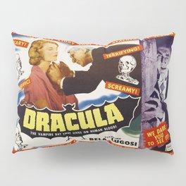 Dracula, Bela Lugosi, vintage horror movie poster Pillow Sham