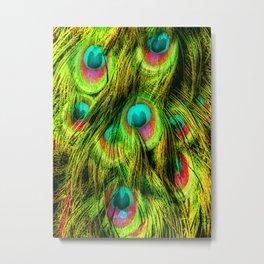 Peacock or Flower 3 Metal Print