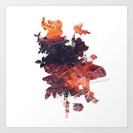 Mask Flow Fire Art Print