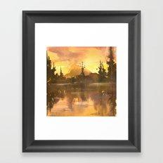 Sunset in the Tropics Framed Art Print