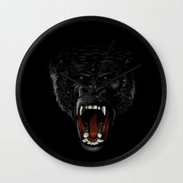 Gorilla attack Wall Clock