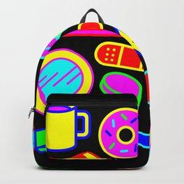 Neon Pattern Backpack
