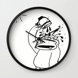 Ape Douses Self with Coffee Wall Clock
