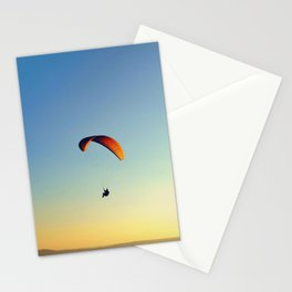 two paragliders in the sky Stationery Cards