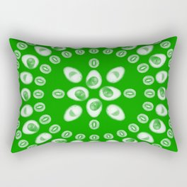 Kiwi & Avocado [Green] • Mandala Rectangular Pillow