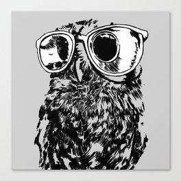 Geek Owl Canvas Print