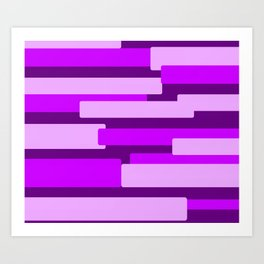 Purple Rectangular Abstract Art Print