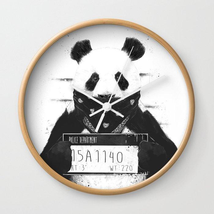 Bad Panda Wall Clock By Soltib Society6
