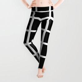 Modern Checkers (man cave black) Leggings