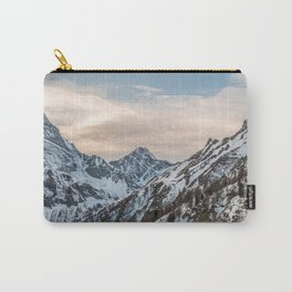 Mountains at sunset - Alpine snowy landscape Carry-All Pouch