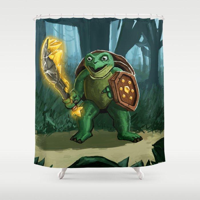 Turtle Paladin Shower Curtain