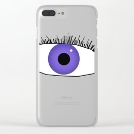 Eye doodle Clear iPhone Case