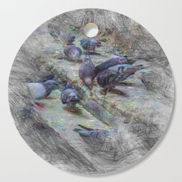 Artistic Animal Doves Cutting Board