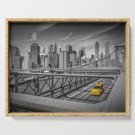 BROOKLYN BRIDGE Manhattan View Serving Tray