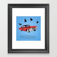 Four Wheel Fly Framed Art Print