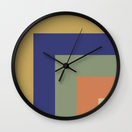 Striped Corners 1 Wall Clock