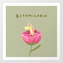 Bloomicorn Art Print
