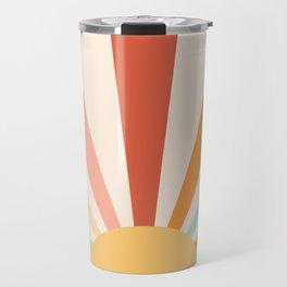 Boho Sun Colorful Travel Mug