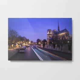 Notre Dame Evenings Metal Print