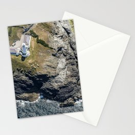 Aerial views over Trevose Lighthouse, Cornwall Stationery Cards