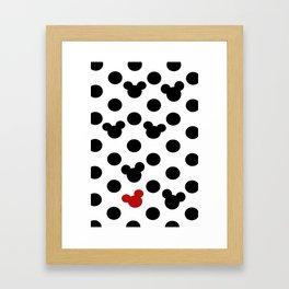 Mickey Dot to Dot Framed Art Print
