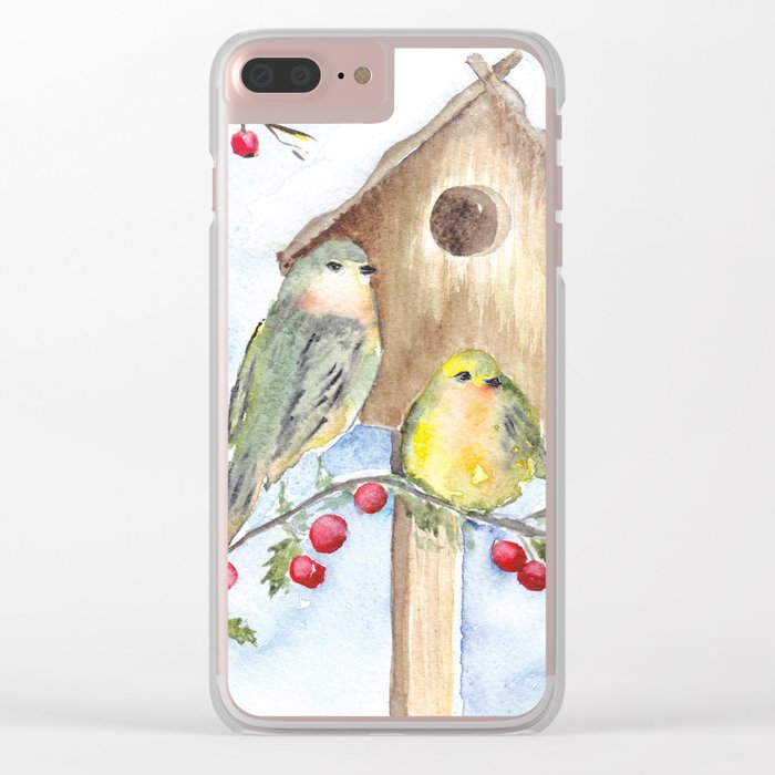 Winter animal #16 Clear iPhone Case