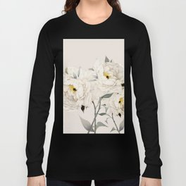 White Peonies Long Sleeve T-shirt