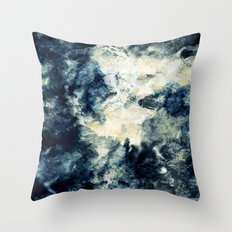 Drowning in Waves Texture Throw Pillow