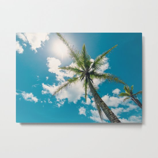 Best Summer Ever - Tropical Palm Trees Metal Print